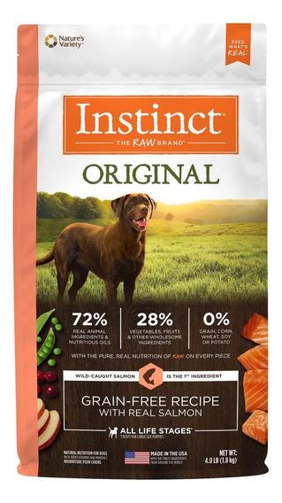 Alimento Instinct Original perro adulto raza mediana/grande salmón 1.8kg