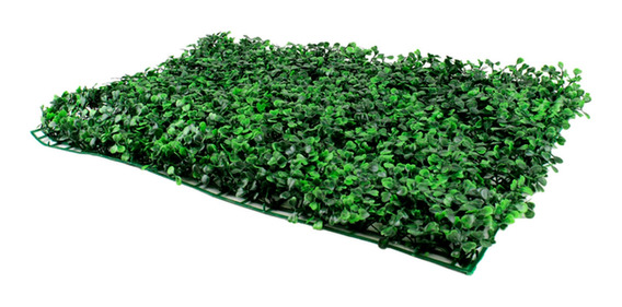 Combo 20 Pzs De Follaje Artificial Boxwood Para Muro 60 X 40