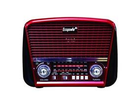 Rádio Portátil Ecopower Bluetoothep-f93b Am/fm/sw Usb/sd/tf
