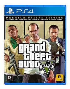 Grand Theft Auto V: Premium Edition - Ps4 - Mídia Física