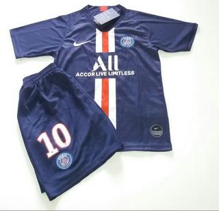 Kit Infantil Psg Paris Saint Germain - Mbappe Neymar Jr - Entrega Grátis