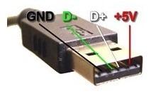 Kit 10x Conectores Usb 2.0 Macho Para Montar 10 Peça Usb