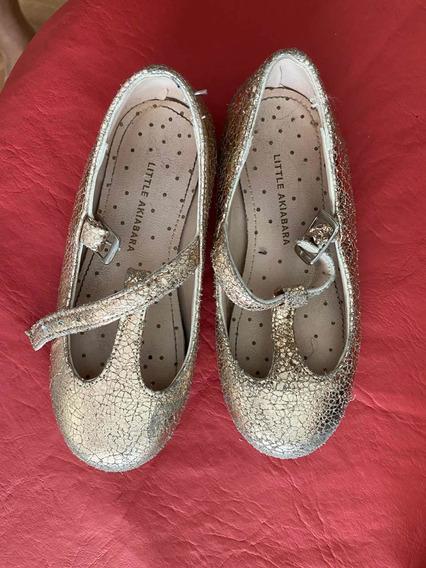 Zapatos Para Nena Little Akiabara Color Rosa Dorado! Nro. 25
