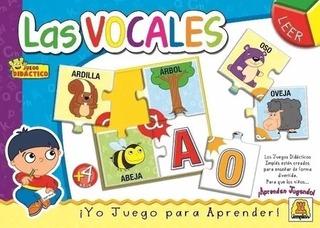 Las Vocales Implas Puzzle Didactico Juego Mesa 330
