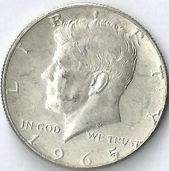 Estados Unidos 1965 1/2 Dolar Plata John Kennedy Xx4012