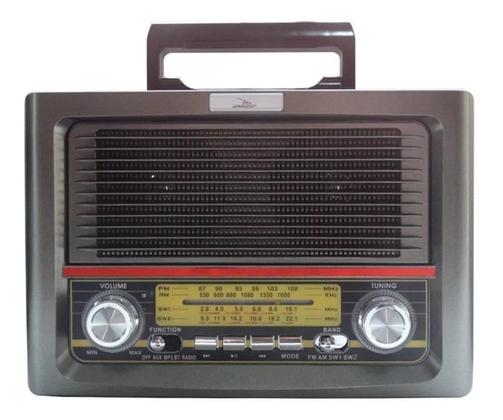 Rádio Antigo Retrô Bluetooth//usb/fm/am Grasep Novo