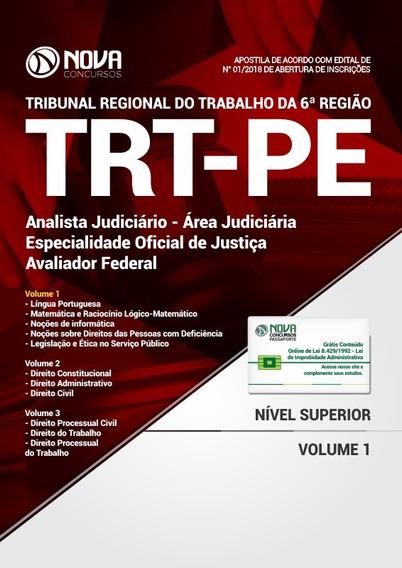 Apostila Trt-pe 2018- Analista Judiciário-oficial De Justiça