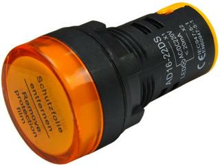 Ojo De Buey Luz Piloto Señalizador Color Ambar 220v 22mm