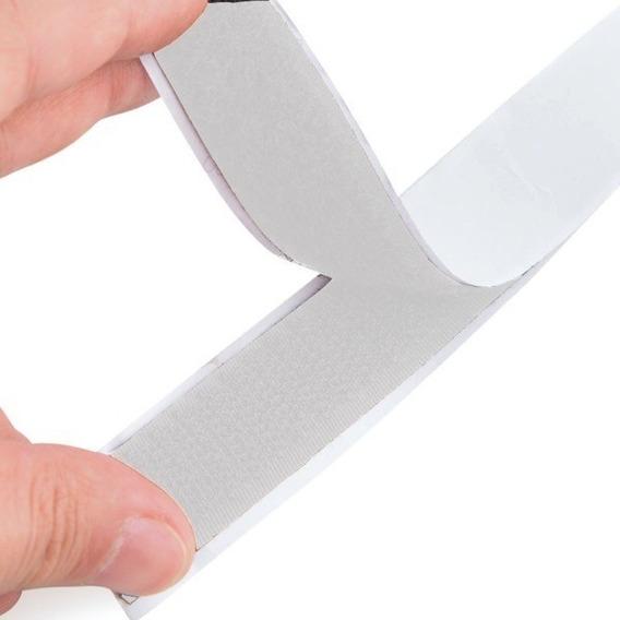 Fecho De Contato Adesivo Branco Macho E Fêmea 25mm X 5mts