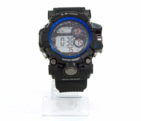Relógio Casio G-shock Preto Com Azul