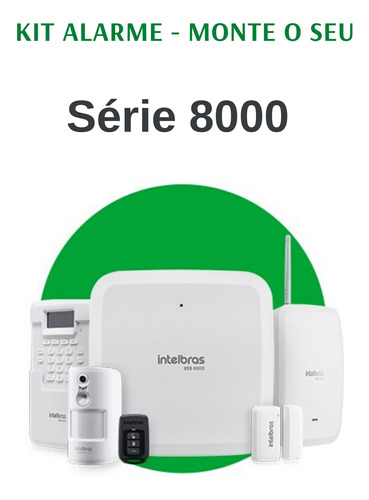 Kit Central De Alarme 8000 Intelbras - Faça O Seu!!