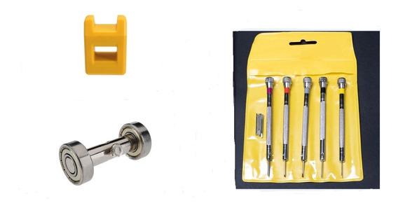 Kit Chaves Fenda Precisão + Afiador + Magnetizador