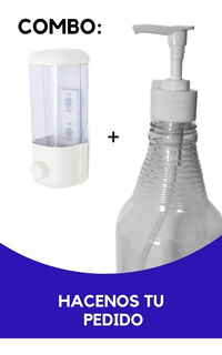 Dispenser Alcohol En Gel + Rociador C/ Valvula De Gel 1 Lts
