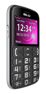 Celular Senior Blu Joy Sos Para Adulto Mayor Negro