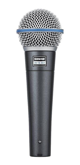Microfone Shure Beta 58A dinâmico supercardióide preto