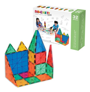 Juguete Magnético Magneti Blocks 32 Piezas