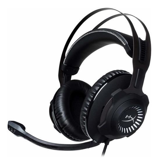 Fone de ouvido gamer HyperX Cloud Revolver cinza-metalizado