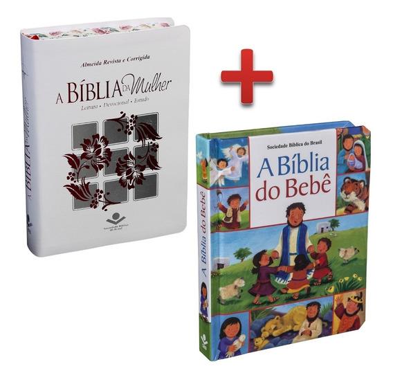 Bíblia Da Mulher Estudo Branca Rc + Bíblia Do Bebê