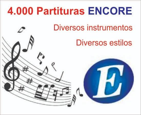 4.000 Partituras Musicais Encore Para Diversos Instrumentos