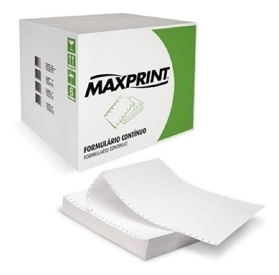 Formulário Contínuo 80 Colunas 240x280mm 1 Via Maxprint