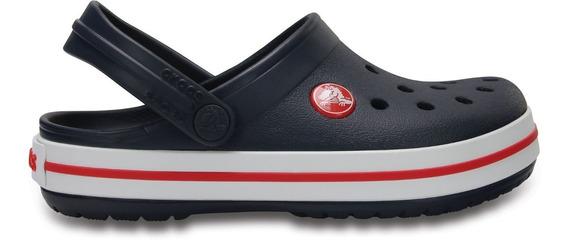 Zapato Crocs Unisex Infantil Crocband Azul Marino/rojo