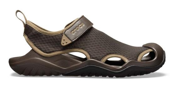 Zapato Crocs Caballero Swiftwater Deck Sandal Café