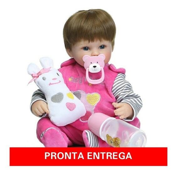Boneca Realista Bebê Reborn Importado Pronta Entrega+brinde