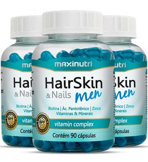 Hair Skin & Nails Men Kit Com 270 Cápsulas - Maxinutri