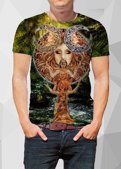 Camiseta Xamânica O Sagrado Feminino Full Print