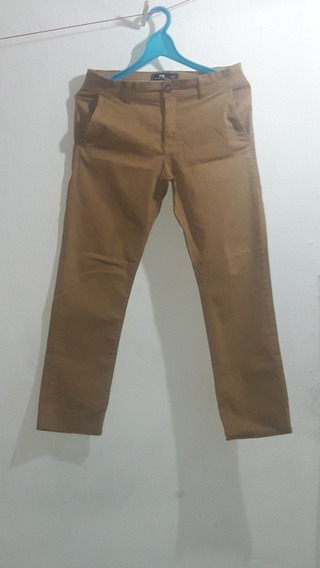 Calça De Sarja Tng, Masculina Cor:mostarda, Tam:40 Usada