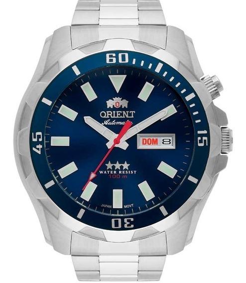 Relógio Orient Masculino Automático 469ss078 D1sx Azul Aço