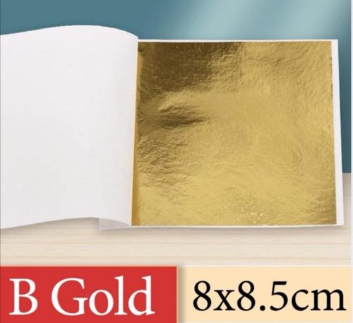 Imagen 1 de 7 de Láminas De Pan De Oro Folleto De 25 Hojas