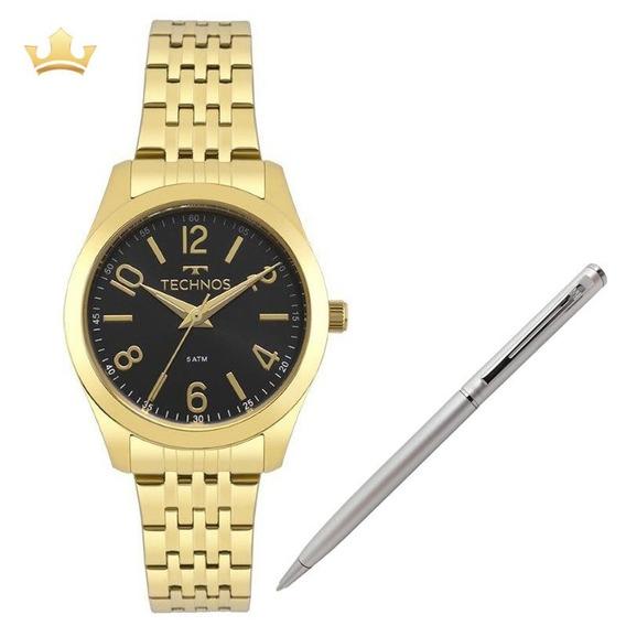Relógio Feminino Technos 2035mpd/4p + Brinde Caneta Crown