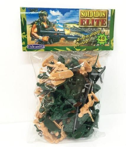 Soldaditos Plasticos X48 Piezas Vulcanita