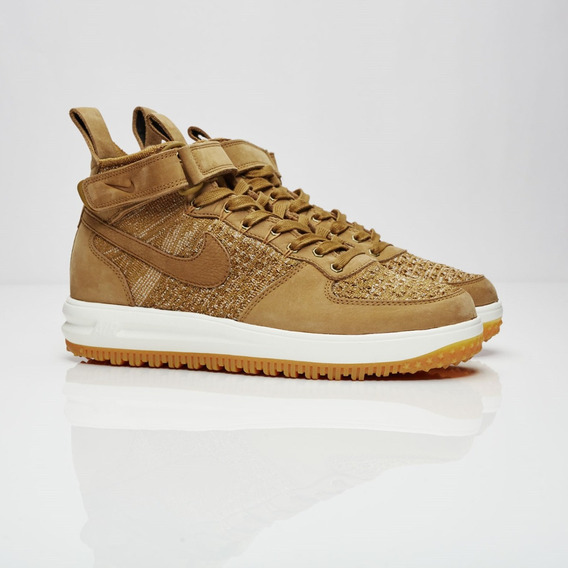Nike Lunar Force 1 Flyknit Workboot Golden Beige