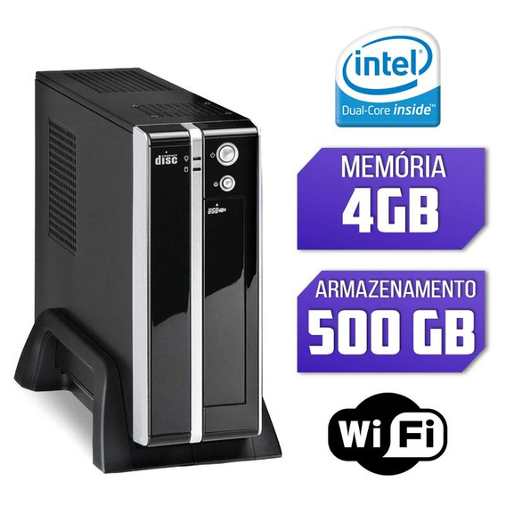 Mini Cpu Intel Dual Core, 4gb, Hd 500gb E Wifi