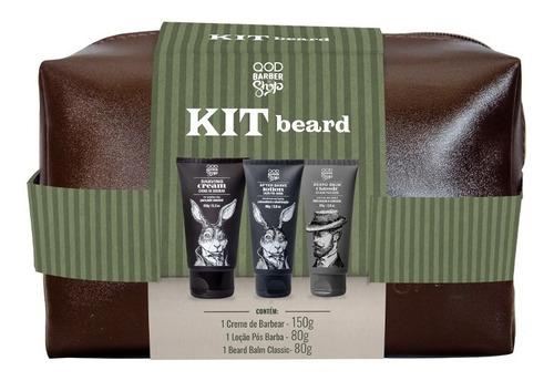 Imagem 1 de 4 de Kit Beard   1 Necessaire + Produtos De Barba   Qbs