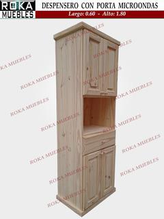 Despensero Organizador Con Porta Microondas +1 Cajon 60x180