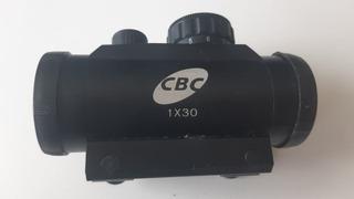 Mira Holográfica Cbc 1x30 Trilho 11 P/ Carabina E Pistola