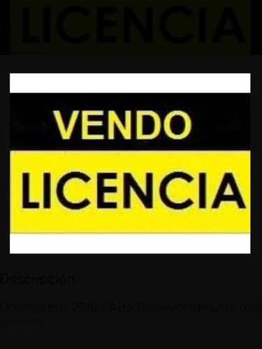 Licencia Taxi/ No Chofer/ No Radio