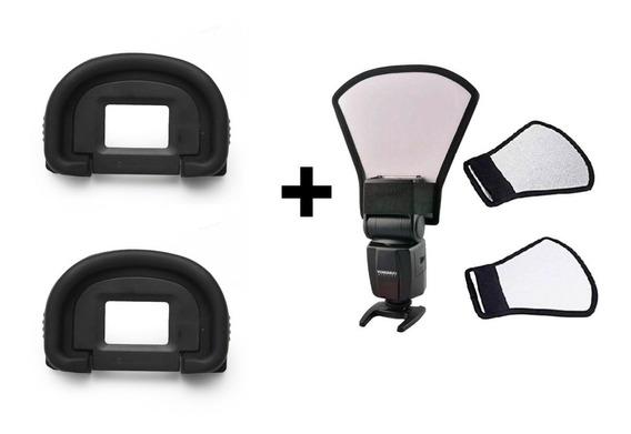 Kit 2 Oculares Canon Eg + Rebatedor P/ Flash
