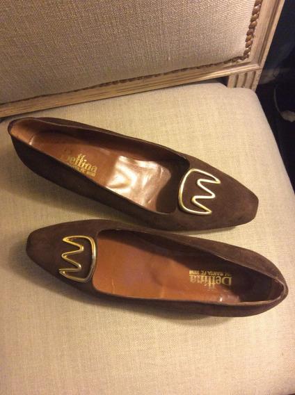 Zapatos Gamuza Marrones Num 37 Y Medio