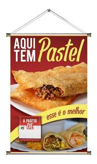 Banner De Pastel Frito Na Hora - 60x90cm