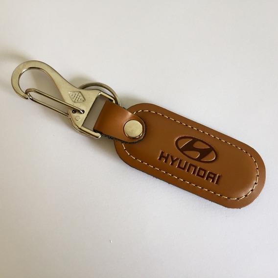 Chaveiro Carro Hyundai Mosquetão Em Couro
