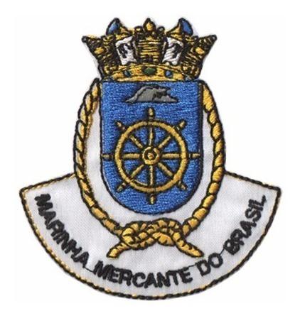 Bordado Termocolante Marinha Mercante Do Brasil