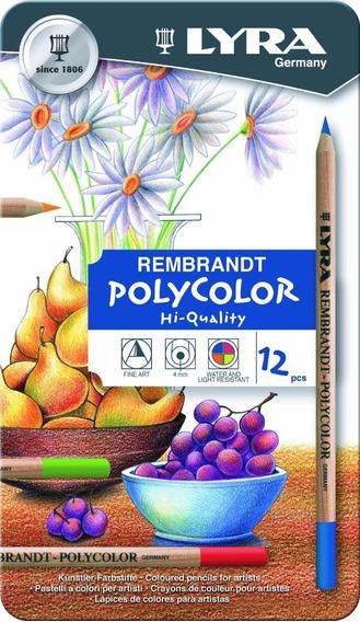 Lápis Cor Lyra Rembrand Polycolor Cj 12 + Bl A3 *promo Natal
