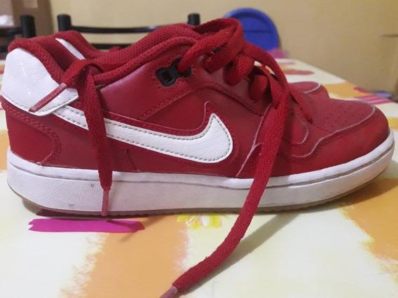 Zapatillas Nike Force Roja De Cuero