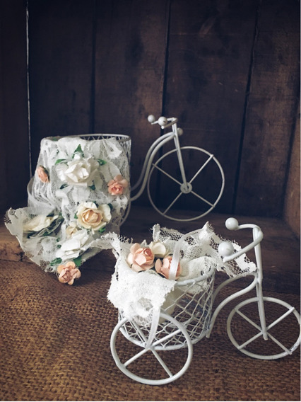 Centro De Mesa Bici Deco Masetero Quince Casamiento Eventos