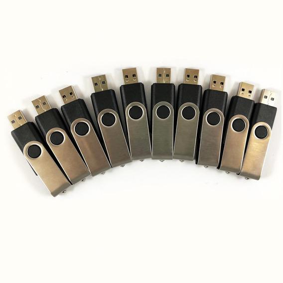 Combo 10 Pen Drive Sem Logo 2gb Possibilidades De Até 3,5gb
