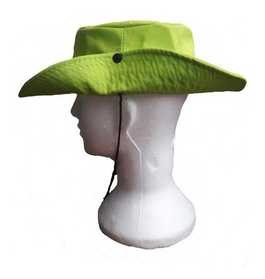 Chapéu Bucket Hat Pescador Com Cordão Pescaria Caminhada